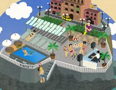 """Check out new work on my @Behance portfolio: """"Illustration for Pool Party at the Lido, Malta"""" http://on.be.net/1HKUZlW"""