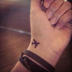 Minimal Plane Tattoo... - InspiringTats