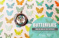 Origami Owl Butterfly Locket  www.buycharms.origamiowl.com