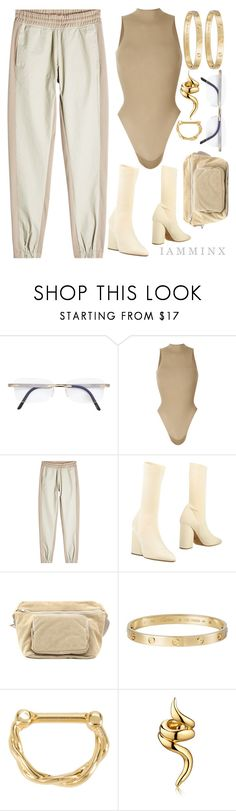 """Untitled #419"" by iamminx ❤ liked on Polyvore featuring Silhouette, Yeezy by Kanye West, adidas Originals, Cartier and Hot Topic"