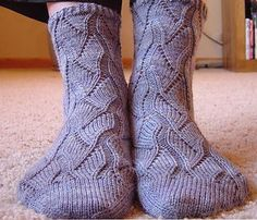 Knitted socks - I love the fancy knitted/crocheted socks!