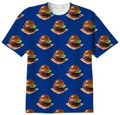 HAMBURGERS Tshirt by BIRDSTARE on Print All Over Me. #paomtee #paomfastfood