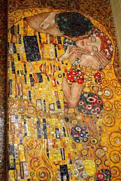 художественная мозаика Поцелуй Климта