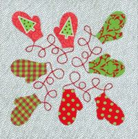 We know how much you loved her Christmas Flag quilt, so we are excited to offer you Tina Curran's My Christmas Album pattern. Just like last year, you'll find Tina's unique holiday designs posted on our website each week through September 3, 2013. First up, the free mittens block pattern.