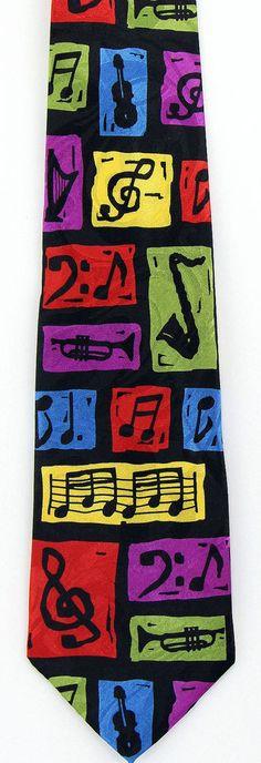 Technicolor Jazz Mens Necktie Musical Instruments Music Musician Gift Tie New #StevenHarris #NeckTie