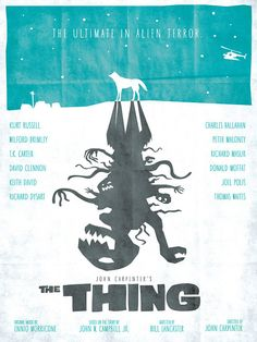The Thing  Saul Bass Style  12x16 Print by Wonderbros on Etsy, $20.00