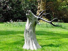 tree stump carving