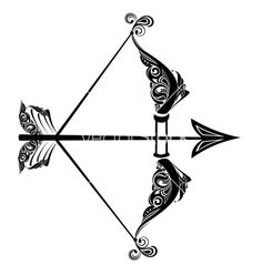 I'm not a Sagittarius, but apparently I get on real well with them. So this would be perfect for my friend. Sagittarius tattoos   Zodiac sign of sagittarius vector 293199 - by galina
