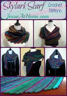 Skylark Scarf Free Crochet Pattern by Jessie Rayot