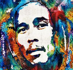 Bob Marley Tribute 2 - Reggae Music Art By Sharon Cummings Painting