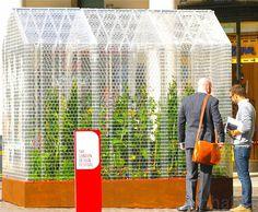 World's first Lego greenhouse built with 100,000 Lego Bricks. Designed by Sebastian Bergne for the London Design Festival.