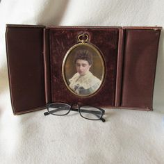 Lovely c1890s Antique Opalotype, Opaltype Photograph in Original Frame