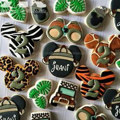 Jungle Mickey Cookies