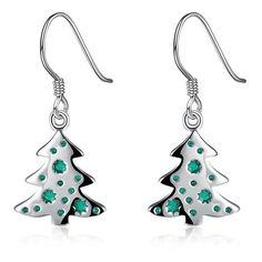 Christmas Tree Enamel Dangle Earrings (17 HKD) ❤ liked on Polyvore featuring jewelry, earrings, dangle earrings, christmas tree earrings, enamel jewelry, enamel earrings and long earrings
