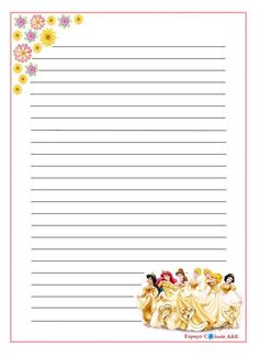 Printable Lined Paper, Free Printable Stationery, Printable Recipe Cards, Art Journal Prompts, Journal Paper, Journal Cards, Journals, Imprimibles Toy Story Gratis, Kids Travel Journal