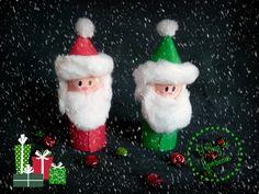 Papa Noel con tubos de cartón