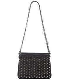 Christian Louboutin Christian Louboutin Triloubi Small Leather Chain Bag