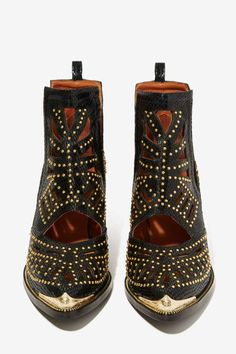 Cutout Leather Boot