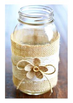 ❤️DIY Lace And Burlap Mason Jars!!❤️ #tipit #Home #Garden #Trusper #Tip