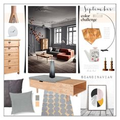 """""""September Space #LivingRoom"""" by theseapearl ❤ liked on Polyvore featuring interior, interiors, interior design, home, home decor, interior decorating, West Elm, Sandra Isaksson, Heal's and Muuto"""