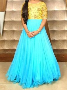 Latest Long Frock Design Collection 2017 2018 Kid Girls Teenager Cotton Saree Blouse Designs, Fancy Blouse Designs, Designs For Dresses, Long Frocks For Girls, Dresses Kids Girl, Baby Dresses, Party Wear Dresses, Birthday Dresses, Frock Models