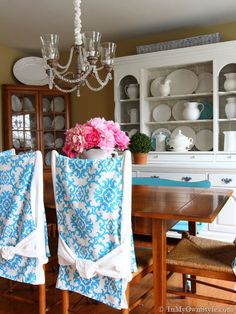 How To Make Simple Slipcovers For Dining Room Chairs Diy