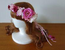 お色直しに☆ バラがポイントのリボン付き花冠♡ |Ordermade Wedding Flower Item MY FLOWER ♪ まゆこのブログ