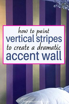 Painting Stripes On Walls, Paint Stripes, Wall Paint Colors, Room Colors, Striped Walls Bedroom, Stripe Walls, Vertical Stripes, Decoration, Diy Decorating