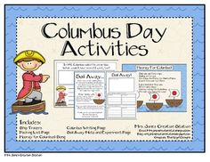 Columbus Day Activities and printables FREE columbus day activities, schoolsoci studi, includ activ, activ pack, christoph columbus, teach, printabl free, social studi, christopher columbus