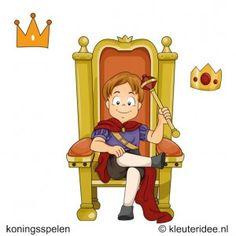 Kroning van de koning, koningsspelen voor kleuters, kleuteridee.nl , 1.