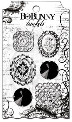 Bo Bunny Press - Enchanted Collection - Metal Embellishments - Trinkets at Scrapbook.com $4.99