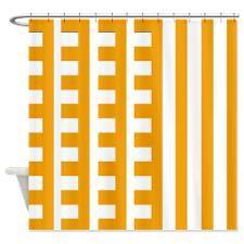 Dark Yellow Comb Tooth Shower Curtain