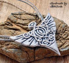 Unique necklace Unique jewelry Angel by HandmadeByAleksanta