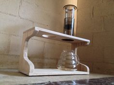 Natural Oak Double Pour Over Stand by BrewStation on Etsy