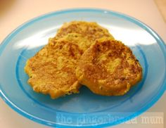 Soft butternut squash cakes, perfect finger food for babies and toddlers