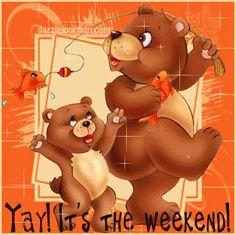 ❤️Have a nice weekend! Bon Weekend, Weekend Gif, Family Weekend, Nice Weekend, Blessed Weekend Images, Happy Weekend Quotes, Happy Day, Weekend Greetings, Evening Greetings