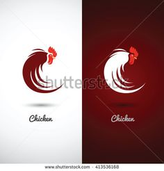 rooster design icon symbol on white background , vector illustration