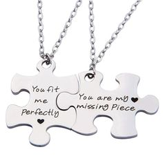 My Missing Piece Necklace Set for Couples (Romantic gifts for boyfriend who has everything)