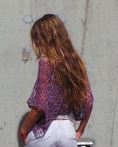 encogiéndose de hombros de púrpura / púrpura algodón de tejido