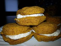 Low carb, sugar free, gluten free Pumpkin Whoopie Pies! click photo for the recipe I used.