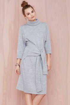 Knot Me Sweater Dress | Shop The Temp Drop Shop at Nasty Gal