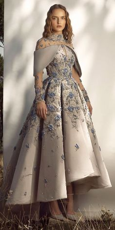 Trend Of The Year: 24 High Low Wedding Dresses ❤  high low wedding dresses with illusion long sleeves beaded embellishment saiidkobeisy #weddingforward #wedding #bride Cute Dresses, Beautiful Dresses, Formal Dresses, Wedding Dresses, Evening Gowns, High Low, Ball Gowns, Long Sleeve, Womens Fashion
