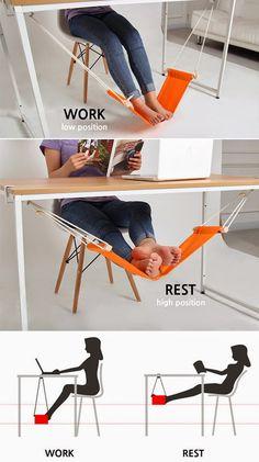 foot adjustable underdesk foot hammock