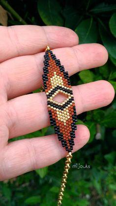 Miyuki bracelet beaded bracelet colorful jewelryGift to Beaded Bracelets Tutorial, Seed Bead Bracelets, Bead Earrings, Seed Beads, Bead Jewellery, Beaded Jewelry, Beaded Necklace, Rakhi Design, Adjustable Bracelet