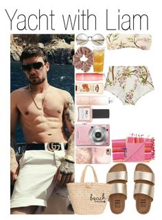 """""""• Yacht with Liam"""" by dianasf ❤ liked on Polyvore featuring Dolce&Gabbana, Billabong, Topshop, Hat Attack, ncLA, Casetify, Drybar, Banana Boat, H&M and Kinto"""