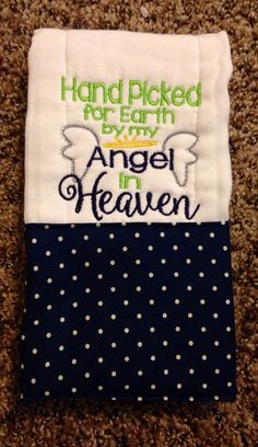 Angel burp cloth Heaven burp cloth Burp by BrinleysBowtique32