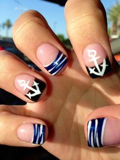 Anchors ⚓nails. Love my new nails. Nails by Brian