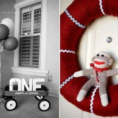 What a cute idea....if we go with monkeys, we will be doing this...insert  TWO instead of ONE! =)