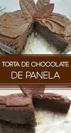 Receita fácil e diferente de Torta de chocolate de panela! Faça essa delícia de um jeito que você nunca imaginou. Ideal para quando você precisa de uma sobremesa rápida