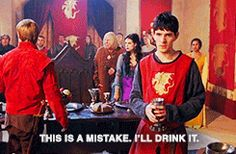 10 times Arthur tried to defend Merlin (gif set) - awesome!